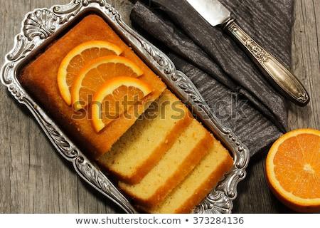 Homemade bakery orange cake Stock photo © punsayaporn