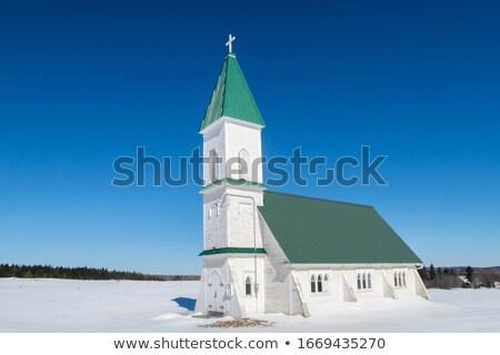 Quebec · parlement · gebouw · stad · sneeuw · winter - stockfoto © bmonteny