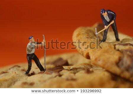 Plastic People Working on Chocolate Chip Cookies Stock photo © tobkatrina
