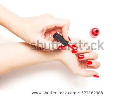 Palm with nail varnish Stock photo © vankad