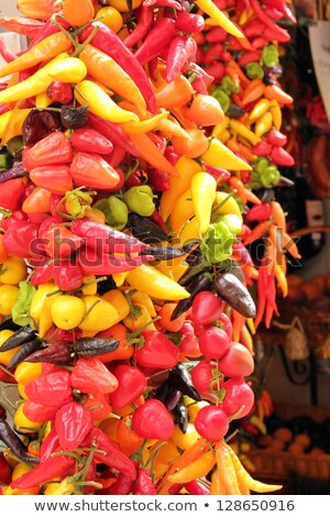 Multicolored Hot Chili Peppers in Majorca Stock photo © wjarek