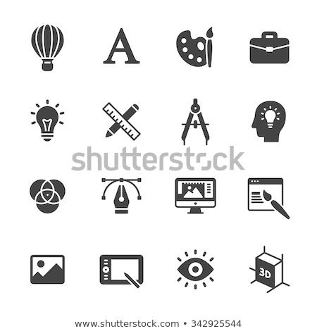 ontwerper · werkruimte · verticaal · afbeelding · moderne · papier - stockfoto © stevanovicigor