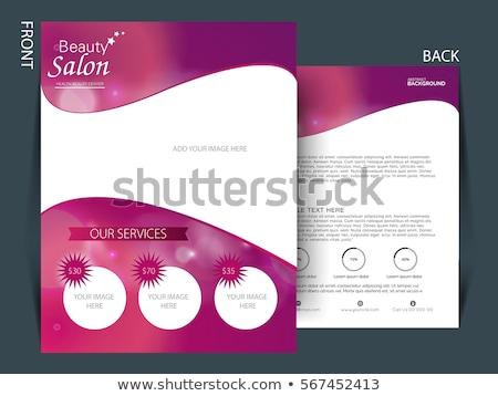 Divat szalon szórólap sablon modell háttér Stock fotó © rioillustrator