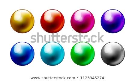 ボール 3D ベクトル 水 ガラス ストックフォト © redshinestudio
