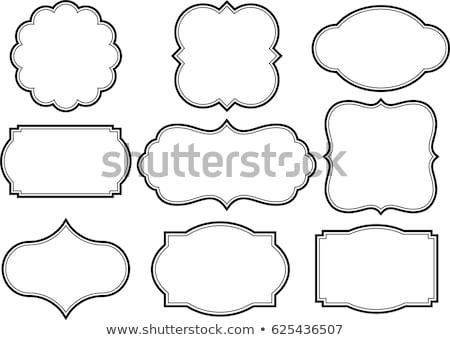 Set decorativo fotogrammi matita sfondo arte Foto d'archivio © elenapro