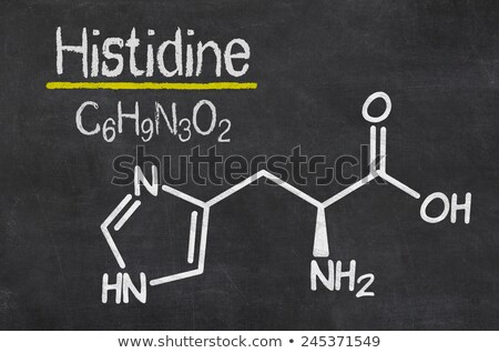 Blackboard with the chemical formula of Histidine Stock photo © Zerbor
