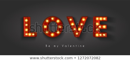 Kalp sevmek sevgililer günü yangın yanan kırmızı Stok fotoğraf © user_8545756