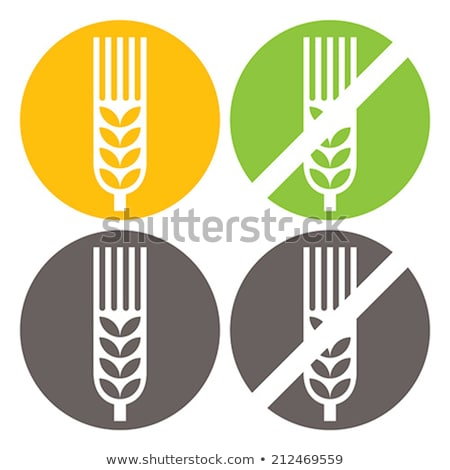ベクトル 小麦 無料 標識 孤立した 白 ストックフォト © slunicko