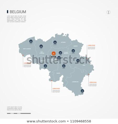 оранжевый кнопки изображение карт Бельгия форме Сток-фото © mayboro