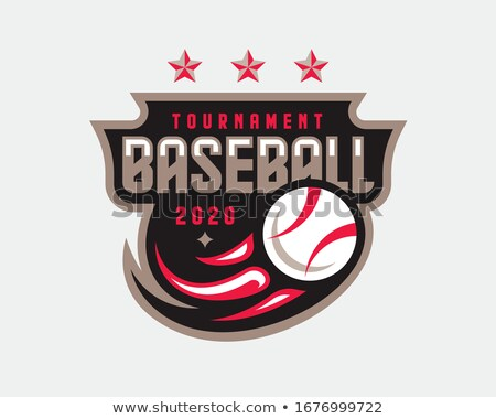 Baseball embléma pajzs futball kitűző címer Stock fotó © mikemcd