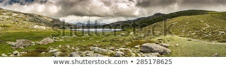Panoramic view across Lac De Nino in Corsica  Stock photo © Joningall