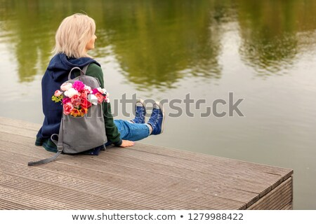 çiçekler · resim · çift · yatak · render · kız - stok fotoğraf © gromovataya