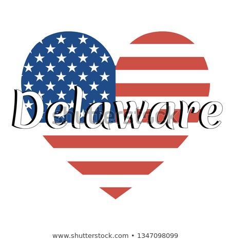Sevmek Delaware simge kalp bayrak ikon Stok fotoğraf © tkacchuk