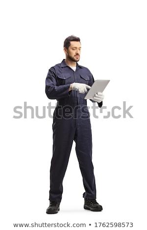 Retrato manitas pie blanco hombre Foto stock © wavebreak_media