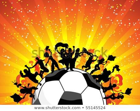 Stok fotoğraf: Dev · kalabalık · futbol · oyun · düzenlenebilir