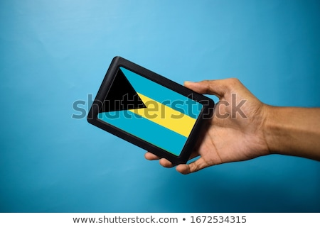 Tablet with Bahamas flag Stock photo © tang90246