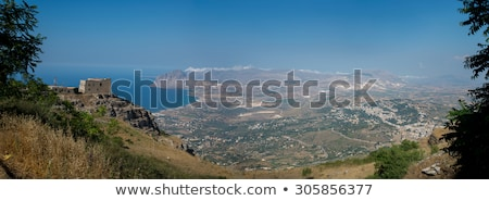 gulf of bonagia and monte cofano trapani sicily italy stock photo © photooiasson