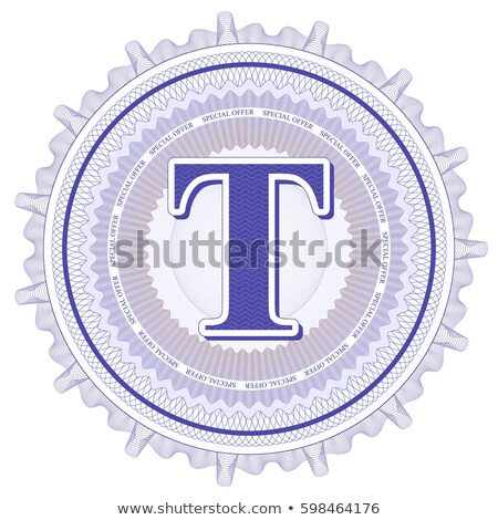 Abstract guilloche Logo, letter-T Stock photo © netkov1