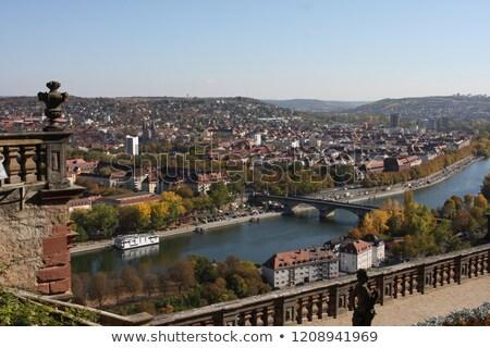 Romantik nehir Almanya görüntü gökyüzü doğa Stok fotoğraf © w20er