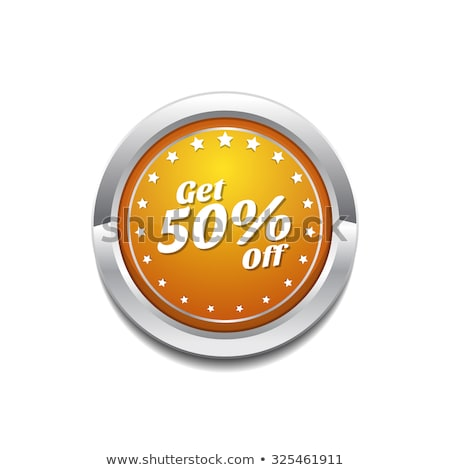 Get 50 Percent Yellow Vector Icon Button Stock photo © rizwanali3d