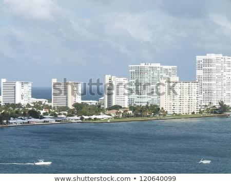 Fort · Lauderdale · katamarán · tengerpart · Florida · kék · ég · égbolt - stock fotó © lunamarina
