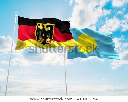 Germany and Palau Flags Stock photo © Istanbul2009