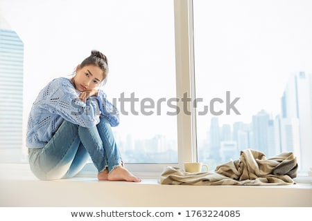 depressed beauty stock photo © lubavnel