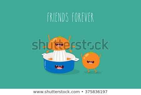 Blue orange juicer and Oranges  Stock photo © laky981