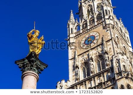 the mariensaule a marian column and munich city hall on the mar stock photo © vladacanon