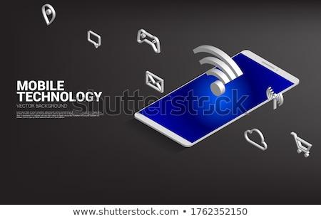 携帯 実例 コンピュータ 技術 芸術 ウェブ ストックフォト © get4net