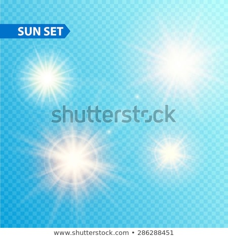 summer sun burst with lens flare set eps 10 stock photo © beholdereye