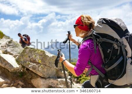 горные Вдохновенный пейзаж Корсика Франция гор Сток-фото © blasbike