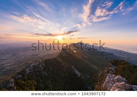 гор Кипр дерево лес закат природы Сток-фото © Kirill_M