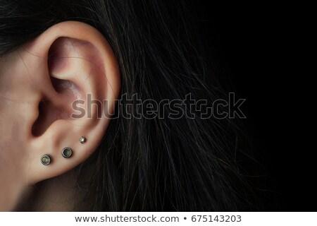 oor · vrouw · medische · home · slaap - stockfoto © zurijeta