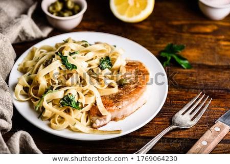 свинина филе спагетти малиной сокращение Сток-фото © Digifoodstock
