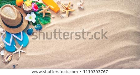 Summer holiday vacation accessories on beach sand Stock fotó © stevanovicigor