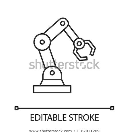 przemysłowych · mechaniczny · robot · ramię · line · ikona - zdjęcia stock © rastudio