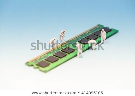 számítógép · emlék · izolált · fehér · háttér · zöld - stock fotó © kirill_m