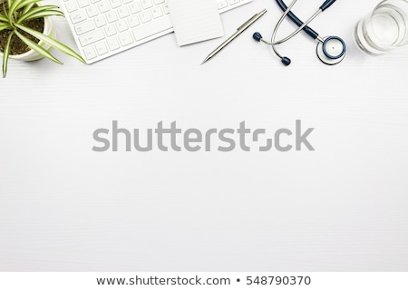 Medical doctor's office desk top view as copy space Stock photo © stevanovicigor