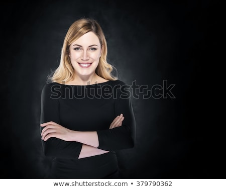 Fashion photo of beauty woman on dark background stock photo © traza