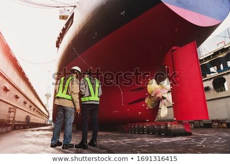shipyard ship under construction repair industrial transport stock photo © photocreo