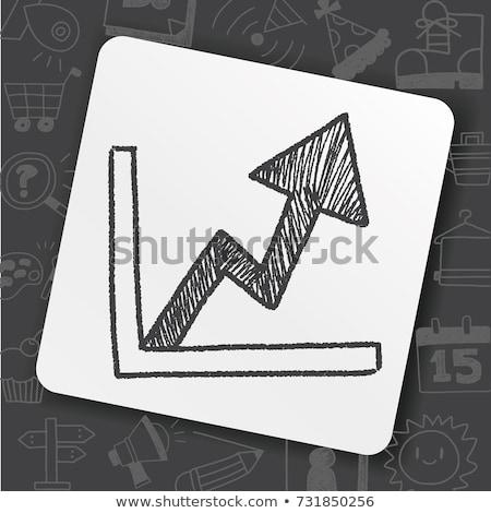 doodle · beneden · icon · symbool - stockfoto © pakete