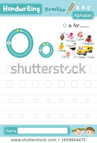 Flashcard letter O is for orangutan Stock photo © bluering