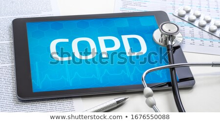 Tablet with the diagnosis COPD on the display Stock photo © Zerbor