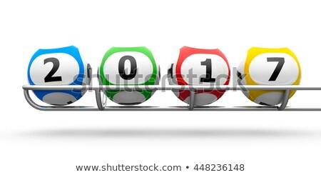 Lottery balls 2017 frame Stock photo © Oakozhan