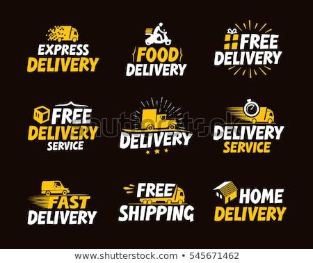 набор доставки логотип бизнеса экспресс послать Сток-фото © tandaV