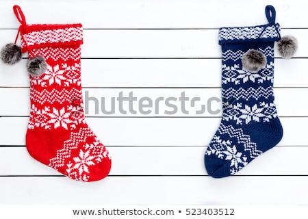 pończochy · pary · wibrujący · wełniany · zimą - zdjęcia stock © ozgur