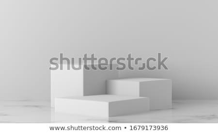 Fehér téglalap négyzetek sablon terv beton Stock fotó © limbi007