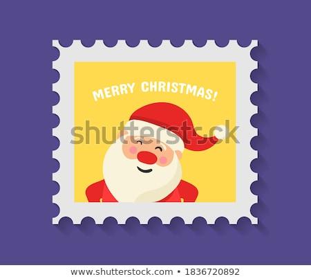 Christmas postcard with snowflake. EPS 10 Stock photo © beholdereye