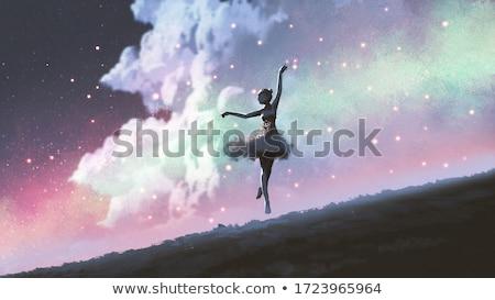 Ballerina dancing the night Stock photo © orla